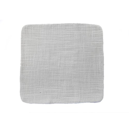 Bluelover Baumwoll-Leinen japanische Geschirrtuch Kungfu Tee Mithelfer-Silber