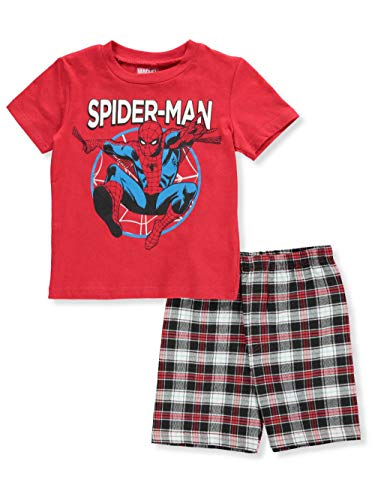 Spider-Man Little Boys' Toddler 2-Piece Shorts Set Outfit - red/Multi, 2t -