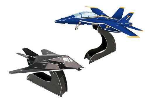 blu Angels F A-18 F117 3D Puzzle, 40-Piece by Daron