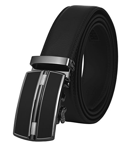 Lavemi Men's Real Leather Ratchet Dress Belt with Automatic Buckle,Elegant Gift Box(0257) ()