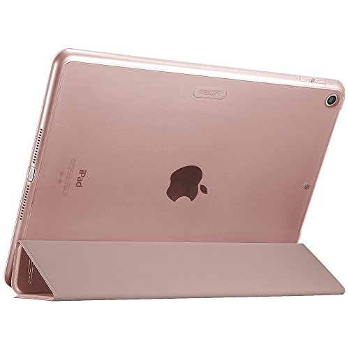 Large Product Image of ESR iPad 9.7 2018/2017 Case, Lightweight Smart Case Trifold Stand with Auto Sleep/Wake Function, Microfiber Lining, Hard Back Cover for The Apple iPad 9.7 iPad 5th/6th Generation,Rose Gold