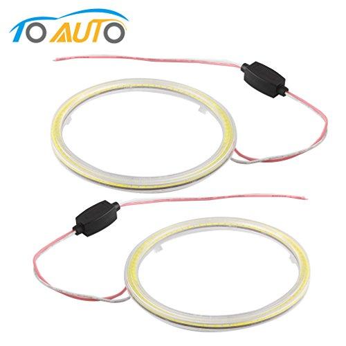 110mm Car COB Angel Eyes Halo Ring LED Light Lamp +Turn Signals - 8