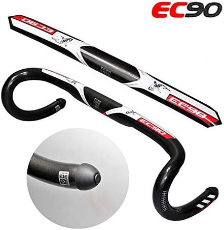 道路EC 90エアロカーボンロード自転車ハンドル31.8 * 400/420 / 440 mmの2018の新しいEC 90炭素繊維自転車ハンドル
