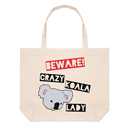Tote Beach Beware Bag Beware Crazy Koala Large Crazy Lady 0YpqUY