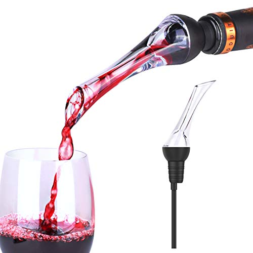 Premium Wine Aerator Pourer - Instant Red Wine Aeration for In Bottle Use - Perfect Wine Accessories - Gift Box