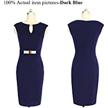 B dressy Small V-neck Sleeveless Dress Pencil Skirt