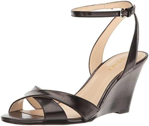 Nine West Women's Kami Leather Wedge Sandal