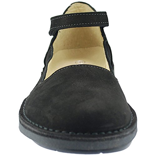 Black Oxygen Lisbon Stitch Shoe Stap Down Ankle n4WPUq64