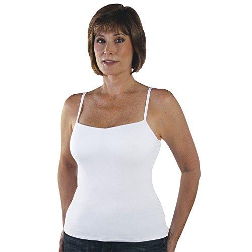 - Classique 736 Post Mastectomy Fashion Camisole-White-38C