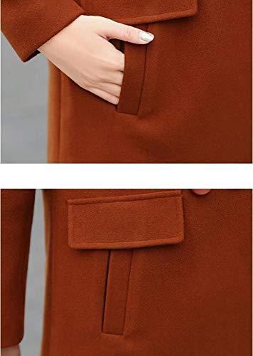 Laine Classique Ab vent De Et En Veste Manteau Coupe Automne Femme Revers Chaude D'hiver Dames Caramel Coton Hiver 1qqCI7w