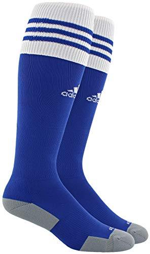 adidas Unisex Copa Zone Cushion II Soccer Sock (1-Pair), Cobalt/White, 13C-4Y