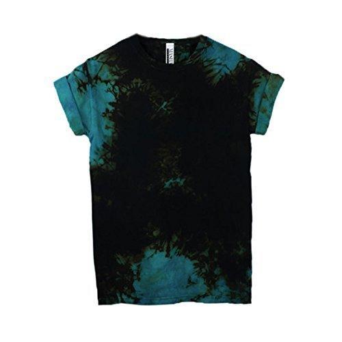 27b81cc1d6 Amazon.com  Rock and Roll Blue Tie Dye Unisex T-Shirt short Sleeve Plus  Size S