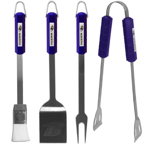 NFL Baltimore Ravens BBQ Set, 4-Piece -