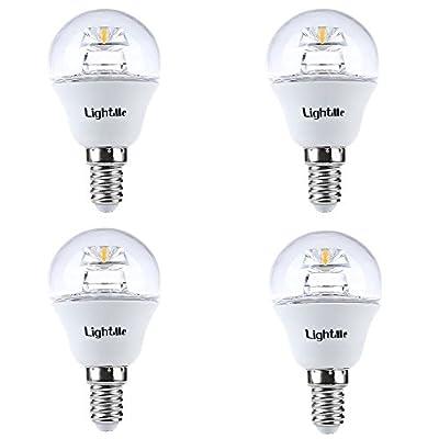 LightMe Super Bright 4Pcs 5W 110-240V 420Lm E14 P45 LED Bulbs Mini Globe Bulb Energy Saving Lamps - Equivalent with 40W Incandescent Bulb