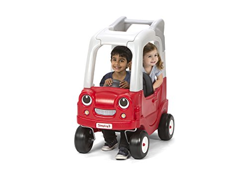Simplay3 Kids SUV Ride-On Toy for Two Children - Red