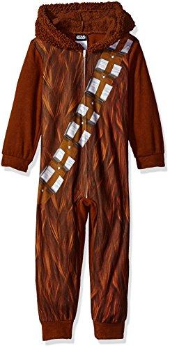 Star Wars Boys' Chewbaca Hooded Blanket Sleeper,Wookie Brown,6