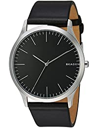 Men's SKW6329 Jorn Black Leather Watch