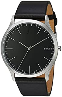 Skagen Men's Holst Quartz Stainless Steel and Leather Watch Color: Black, (Model: SKW6329) (B01LC11EGE) | Amazon Products