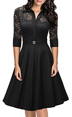 Buy belted evening dress - 6