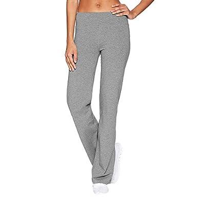 HDGTSA Women's Casual Wide Leg Sports Pants Solid Color Slim Hips Loose Yoga Pants: Clothing