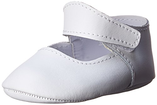 Baby Deer Leather Monogramable Crib Shoe (Infant/Toddler),White/Off White,0 M US Infant - Leather Deer White Baby