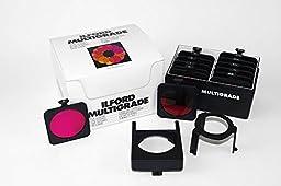 Ilford Multigrade Contrast Filter Set for Below Lens Use, Set of 12 Filters & Holder.