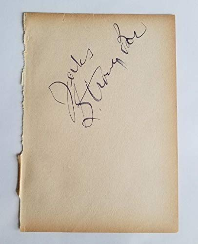 1930s Wrestler Chief Jules Strongbow Hand Signed Book Page Todd Mueller COA