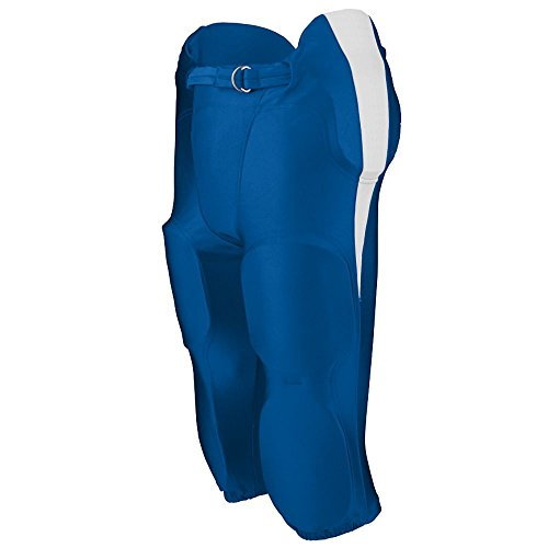 Augusta Sportswear BOYS' KICK OFF INTEGRATED FOOTBALL PANT XL Royal/White