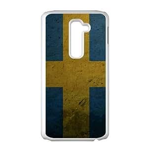grunge flag of sweden LG G2 Cell Phone Case White gift PJZ003-7548300