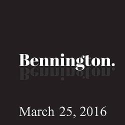 Bennington, March 25, 2016