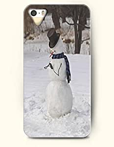 OOFIT iPhone 5 5s Case - A Snowman Looking At Phone - A Snowman Phubber
