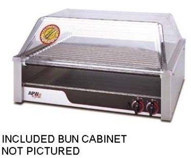 "APW Wyott HR-50BC Hot Dog Grill with Bun Cabinet, HotRod, Roller Type, 34-3/4""W x"
