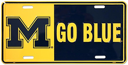 University of Michigan Tin Sign 12 x 6in (University Accessories Of Michigan)