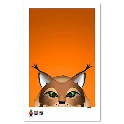 Hunter Minimalist Edmonton Oilers Mascot Art Poster Print (11X17 Inches) ()