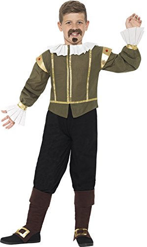 Smiffy's Shakespeare Costume, Green, Large -