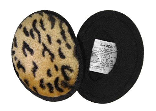 Ear Mitts Bandless Ear Muffs For Women, Leopard Faux Fur Ear Warmers, Small (Bandless Muffs Ear)