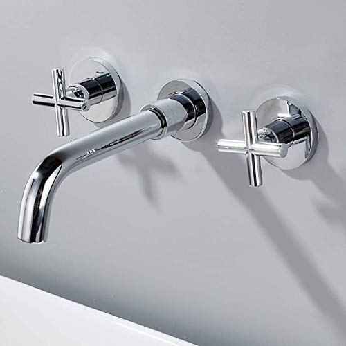 - ZAQXSW Full Copper Dark Wall-Mounted washbasin Faucet Built-in washbasin Embedded Wall Faucet