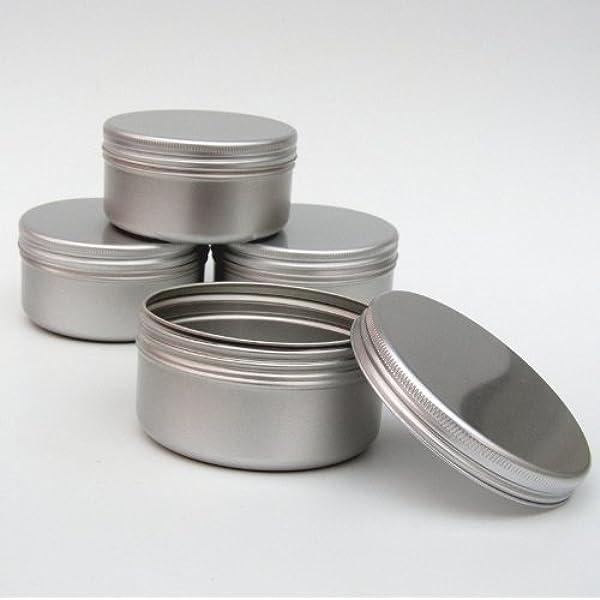 10 x cajas de aluminio 100 ml grandes cajas para maquillaje velas 100 ml capacidad vacío cosméticos/vela/especias/producto de pelo/dulces: Amazon.es: Hogar