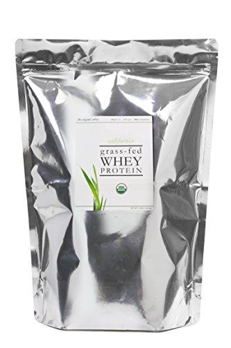 The Organic Whey Protein Powder – 100 Grass Fed Whey Protein – Gluten-free, Non-GMO, USDA Certified Organic Whey Protein – Unflavored Whey Protein Powder – Bulk Bag, 3 lbs