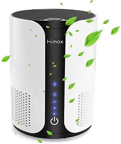 HIMOX Purificador Aire Hogar, Purificador de Aire para Mascotas Alergias con Iónes negativos, Aromaterapia, Ture Filtro HEPA y Filtro de Carbón Activo, Captura de Polen, Humo, Olores