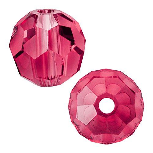 (Swarovski Crystal, 5000 Round Beads 8mm, 8 Pieces, Indian Pink)
