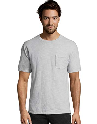 (Hanes 1901 Heritage Dyed Tall Short Sleeve Crewneck Pocket Tee (5A63D GRTDYE) -Soft Silve -2XT )