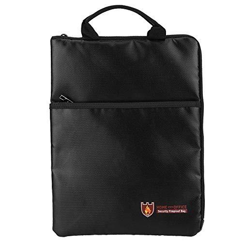 portafolios portátil ignífugo resistente al agua bolsa de documentos organizador de almacenamiento de seguridad para...