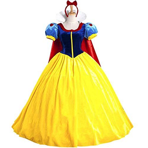 KUFV Women's Princess Costume Dress Snow White Princess Costume with Headband ()