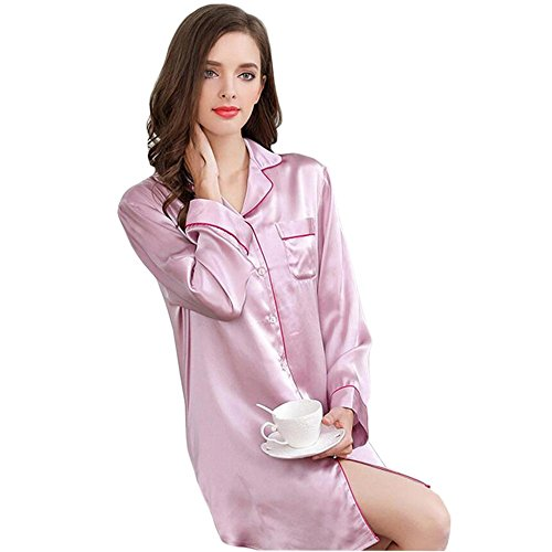 100 signora Sue da biancheria donne set da seta notte casa pigiama abbigliamento notte M pura indumenti 5414x