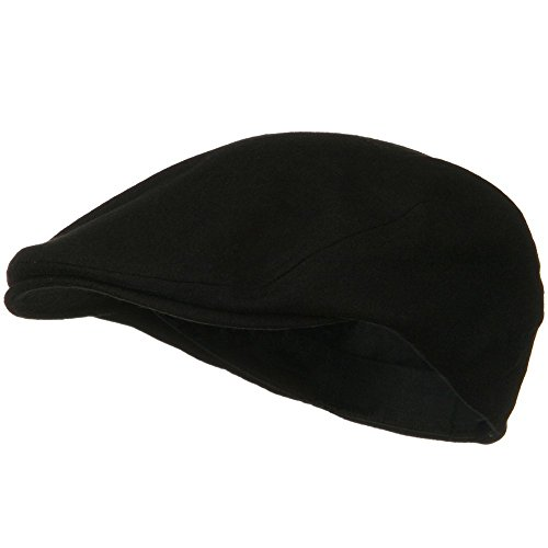 MG Men's Wool Ivy Newsboy Cap Hat (Black), One Size