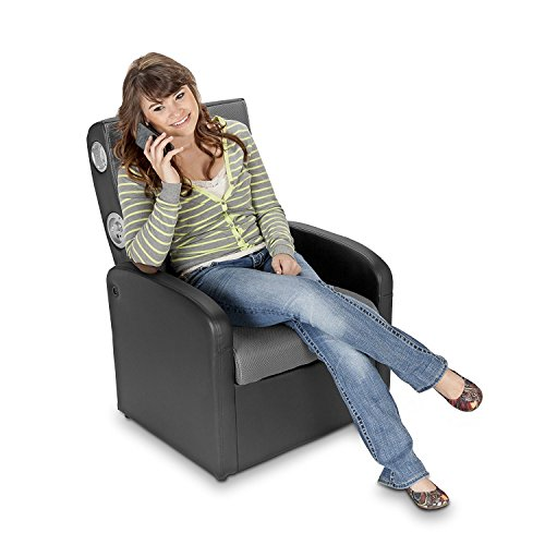 X Rocker Triple Flip 2.0 Storage Ottoman Sound Chair For Playing Video  Games Listening To Music Watching TV Reading And Relaxing(Black/Gray)