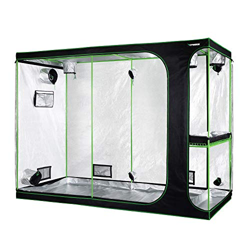 """VIVOSUN 2-in-1 108""""x48""""x80"""" Mylar Reflective Grow Tent for Indoor Hydroponic Growing System"""