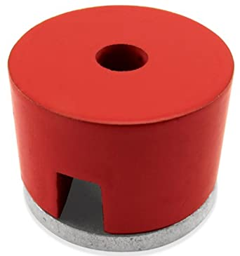 """Cast Alnico 5 Button Magnet With Keeper, 1"""" Diameter, 5/8"""" Thick, 7/32"""" Center Hole (Pack of 1)"""
