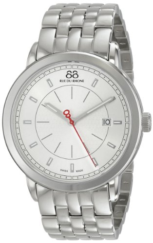 88-Rue-du-Rhone-Mens-87WA120064-Analog-Display-Swiss-Quartz-Silver-Watch